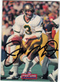 JOE MONTANA NOTRE DAME AUTOGRAPHED FOOTBALL CARD #42413A