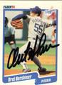 OREL HERSHISER LOS ANGELES DODGERS AUTOGRAPHED BASEBALL CARD #42413B