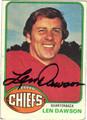 LEN DAWSON AUTOGRAPHED VINTAGE FOOTBALL CARD #42112B