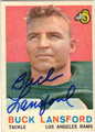 BUCK LANSFORD LOS ANGELES RAMS AUTOGRAPHED VINTAGE FOOTBALL CARD #42313H