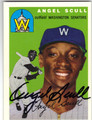 ANGEL SCULL WASHINGTON SENATORS AUTOGRAPHED BASEBALL CARD #42513A