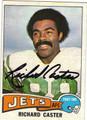 RICHARD CASTER NEW YORK JETS AUTOGRAPHED VINTAGE FOOTBALL CARD #42513i