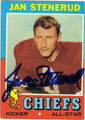 JAN STENERUD AUTOGRAPHED VINTAGE FOOTBALL CARD #42912L