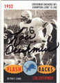 LOU CREEKMUR AUTOGRAPHED FOOTBALL CARD #42812F