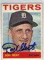 DON WERT DETROIT TIGERS AUTOGRAPHED VINTAGE BASEBALL CARD #42913G