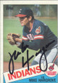 Mike Hargrove Autographed Baseball Card 466