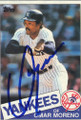 Omar Moreno Autographed Baseball Card 493