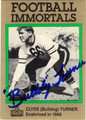CLYDE TURNER AUTOGRAPHED FOOTBALL CARD #50212i