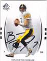 BEN ROETHLISBERGER PITTSBURGH STEELERS AUTOGRAPHED FOOTBALL CARD #50113N