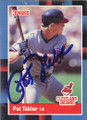 Pat Tabler Autographed Baseball Card 502