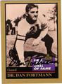 DAN FORTMANN CHICAGO BEARS AUTOGRAPHED FOOTBALL CARD #50213E