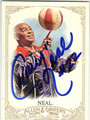 FREDDIE CURLY NEAL HARLEM GLOBETROTTERS AUTOGRAPHED BASKETBALL CARD #50313D