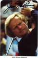 JACK NICKLAUS AUTOGRAPHED GOLF CARD #50312A