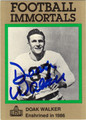 DOAK WALKER AUTOGRAPHED FOOTBALL CARD #50412G