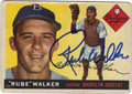 RUBE WALKER BROOKLYN DODGERS AUTOGRAPHED VINTAGE BASEBALL CARD #50413D