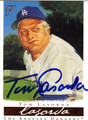 TOM LASORDA LOS ANGELES DODGERS AUTOGRAPHED BASEBALL CARD #50513K