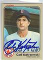 CARL YASTRZEMSKI BOSTON RED SOX AUTOGRAPHED VINTAGE BASEBALL CARD #50613J