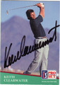 KEITH CLEARWATER AUTOGRAPHED GOLF CARD #50713H