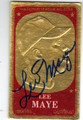 LEE MAYE MILWAUKEE BRAVES AUTOGRAPHED VINTAGE BASEBALL CARD #50713A