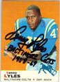 LENNY LYLES BALTIMORE COLTS AUTOGRAPHED VINTAGE FOOTBALL CARD #50713D