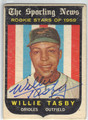 WILLIE TASBY BALTIMORE ORIOLES AUTOGRAPHED VINTAGE ROOKIE BASEBALL CARD #50813G