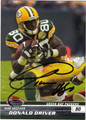 DONALD DRIVER AUTOGRAPHED FOOTBALL CARD #50912R