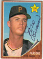 TOM PARSONS PITTSBURGH PIRATES AUTOGRAPHED VINTAGE ROOKIE BASEBALL CARD #50913H