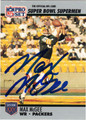 MAX McGEE AUTOGRAPHED FOOTBALL CARD #51112C