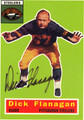 DICK FLANAGAN AUTOGRAPHED FOOTBALL CARD #51112F
