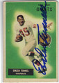 EMLEN TUNNELL NEW YORK GIANTS AUTOGRAPHED VINTAGE FOOTBALL CARD #51313G