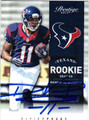 DeVIE POSEY HOUSTON TEXANS AUTOGRAPHED ROOKIE FOOTBALL CARD #51613H