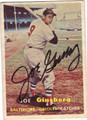 JOE GINSBERG BALTIMORE ORIOLES AUTOGRAPHED VINTAGE BASEBALL CARD #51613i