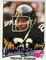PRESTON PEARSON AUTOGRAPHED VINTAGE FOOTBALL CARD #51811B