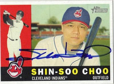 Shin Soo Choo Autographed Baseball Card 51911a