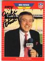 MIKE PATRICK ESPN ANNOUNCER AUTOGRAPHED CARD #51913D