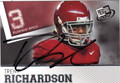 TRENT RICHARDSON AUTOGRAPHED ROOKIE FOOTBALL CARD #52012A