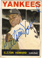 ELSTON HOWARD AUTOGRAPHED VINTAGE BASEBALL CARD #52012D