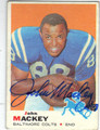 JOHN MACKEY BALTIMORE COLTS AUTOGRAPHED VINTAGE FOOTBALL CARD #52013i