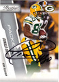 DONALD DRIVER AUTOGRAPHED FOOTBALL CARD #52112G