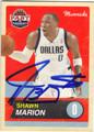 SHAWN MARION DALLAS MAVERICKS AUTOGRAPHED BASKETBALL CARD #52313C