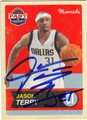 JASON TERRY DALLAS MAVERICKS AUTOGRAPHED BASKETBALL CARD #52313J