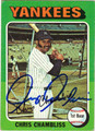 CHRIS CHAMBLISS AUTOGRAPHED VINTAGE BASEBALL CARD #52512C