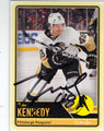 TYLER KENNEDY PITTSBURGH PENGUINS AUTOGRAPHED HOCKEY CARD #52513B
