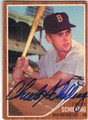 CHUCK SCHILLING BOSTON RED SOX AUTOGRAPHED VINTAGE BASEBALL CARD #52713D