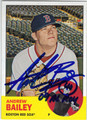ANDREW BAILEY BOSTON RED SOX AUTOGRAPHED BASEBALL CARD #52713i