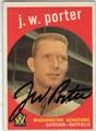 JW PORTER WASHINGTON SENATORS AUTOGRAPHED VINTAGE BASEBALL CARD #52713C