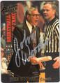 JOHN WOODEN AUTOGRAPHED BASKETBALL CARD #60112J