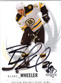 BLAKE WHEELER AUTOGRAPHED HOCKEY CARD #60211H