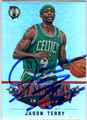 JASON TERRY BOSTON CELTICS AUTOGRAPHED BASKETBALL CARD #60313i