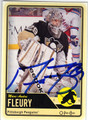 MARC-ANDRE FLEURY PITTSBURGH PENGUINS AUTOGRAPHED HOCKEY CARD #60413G
